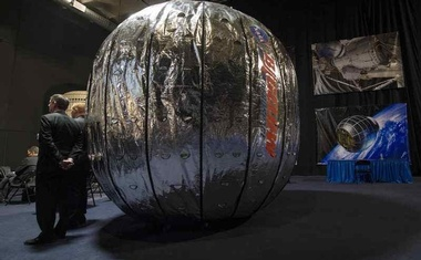 The Bigelow Expandable Activity Module (BEAM) is seen during a media briefing at Bigelow Aerospace in Las Vegas, Nevada, January 16, 2013. Bill Ingalls/NASA/Reuters
