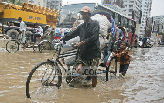 Residents face problems after rain on Saturday.