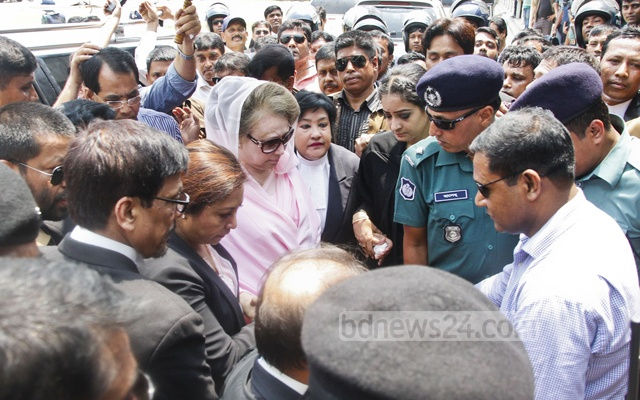 Former prime minister Khaleda Zia stands accused of  embezzling Tk 21 million from funds meant for the Zia Orphanage Trust, which reportedly came from a foreign bank. File photo