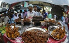 Iftar items on decorative display at Chawkbazar in the capital.