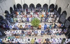 Devotees come to take part in the Juma prayer at the Baitul Mukarram National Mosque on the first Friday of the month of Ramadan. Photo: nayan kumar