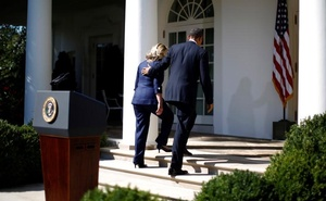 US President Barack Obama and Secretary of State Hillary Clinton walk back to the Oval Office after a statement following the death of the US Ambassador to Libya, Chris Stevens, and others, in the Rose Garden of the White House in Washington, September 12 2012. Reuters