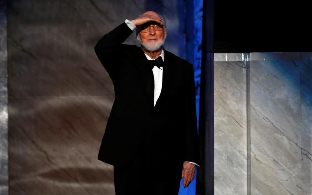 Composer John Williams takes the stage before accepting the American Film Institute's (AFI) 44th Life Achievement Award at Dolby theatre in Hollywood, California U.S., June 9, 2016. Reuters