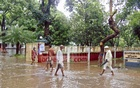 Kurhigram's administrative office and adjoining places have been waterlogged following a night's downpour.