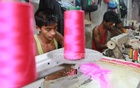Tailors have a hectic time before Eid in fulfilling orders. The photo was taken at Chittagong's Ghatfarhdbeg Khalifapatty. Photo: suman babu