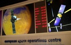 Monitors are pictured in the main control room of the European Space Operations Centre (ESOC) in Darmstadt, Germany June 17, 2016.Reuters