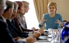 Scotland's First Minister Nicola Sturgeon speaks during an emergency cabinet meeting at Bute House in Edinburgh, Scotland June 25, 2016. Reuters