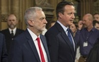 Britain's Prime Minister David Cameron (R) and opposition Labour Party leader Jeremy Corbyn. Reuters File Photo