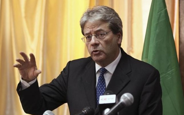 Italy's Foreign Minister Paolo Gentiloni address a news conference in Ethiopia's capital Addis Ababa, January 14, 2015. Reuters