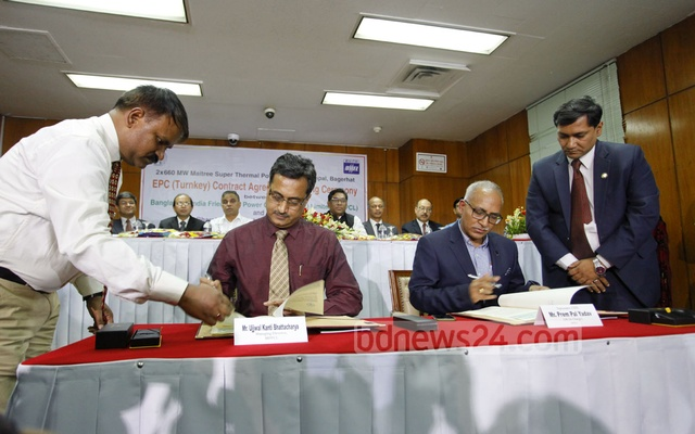 Bangladesh, India sign Rampal power plant construction agreement