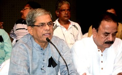 BNP Secretary General Mirza Fakhrul says Tarique Rahman's conviction for money laundering results from political vengeance. File photo