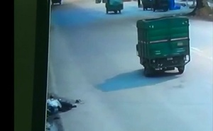 India hit-and-run victim left to die