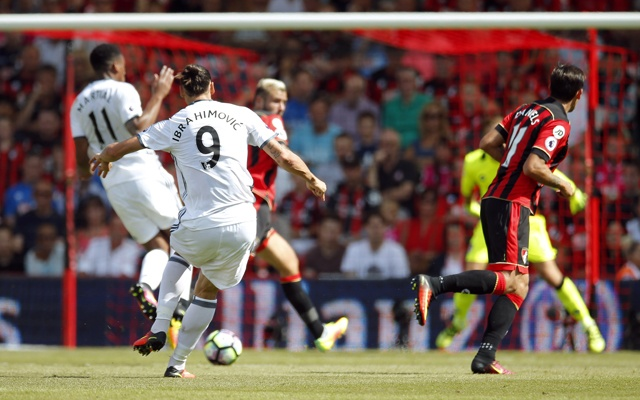 Ibra strikes as Jose's United off to a flier