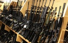 AR-15 rifles line a shelf in the gun library at the U.S. Bureau of Alcohol, Tobacco and Firearms National Tracing Center in Martinsburg, West Virginia December 15, 2015. Reuters