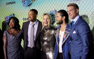 Cast members (L-R) Viola Davis, Will Smith, Margot Robbie, Jared Leto and Joel Kinnaman attend the world premiere of ''Suicide Squad'' in Manhattan, New York, U.S., August 1, 2016. Reuters
