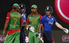 Bangladesh Captain Mashrafe Bin Mortaza, batsman Tamim Iqbal, and England's Ian Bell and Jos Buttler are seen in this Reuters File Photo of a World Cup group match on Mar 9, 2015.