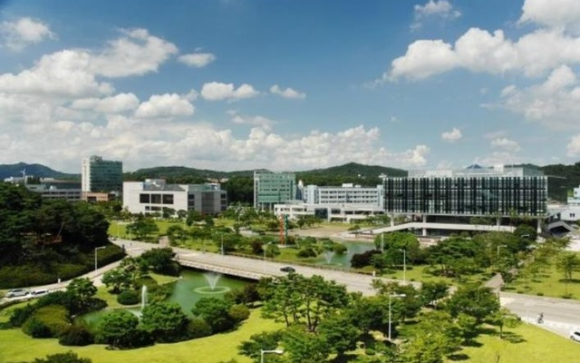Aerial view of the Korea Advanced Institute of Science and Technology campus in Daejeon, South Korea. Courtesy Korea Advanced Institute of Science and Technology (KAIST)