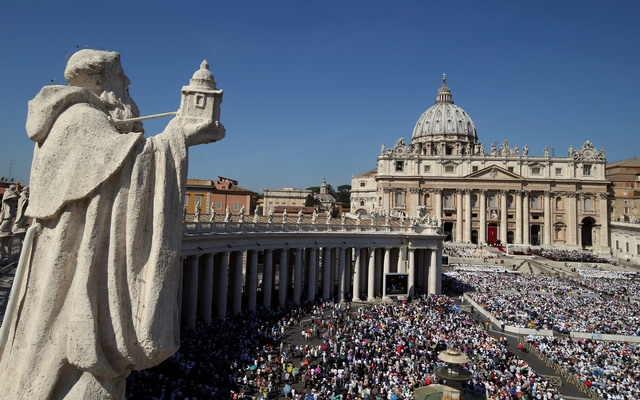 A general view of Saint Peter's Square as Pope Francis leads a mass for the canonisation of Mother Teresa of Calcutta at the Vatican on Sep 4, 2016. Reuters