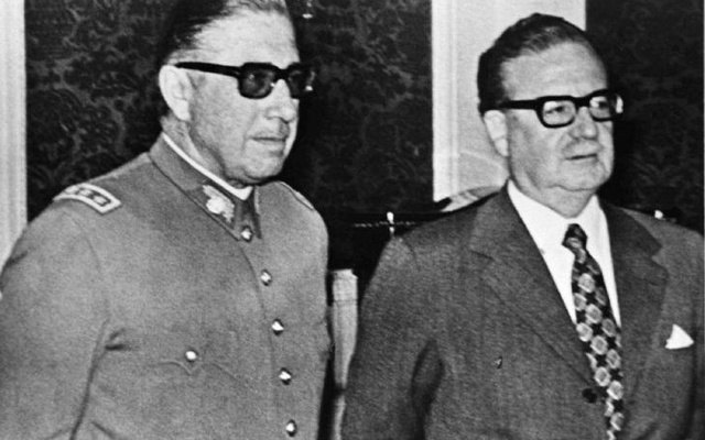 Army chief Augusto Pinochet (right) with President Salvador Allende. Photo: Reuters