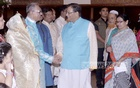 President Md Abdul Hamid exchanges greetings with people from all walks of life on Eid-ul-Azha at Bangabhaban on Tuesday.