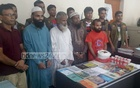 Four suspected JMB operatives were arrested in a Sirajganj madrasa early on Tuesday with handbombs, bomb-making materials and books propagating religious extremism.