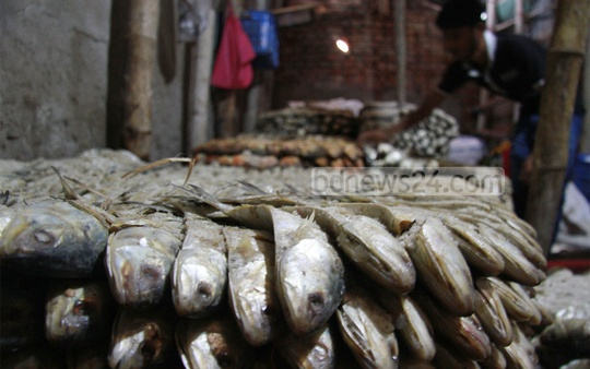 Demand for salted dried Hilsa on the rise. Photo: suman babu