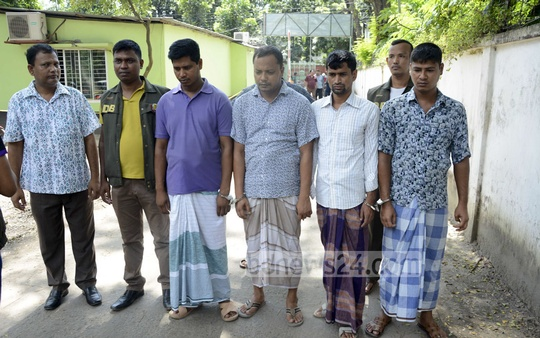 Detectives of Dhaka Metropolitan Police arrested four persons for impersonation of DB officials to commit crime in the capital. The police raid was conducted Saturday night in Moghbazar Wireless Gate area.