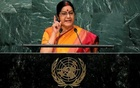 India's Minister of External Affairs Sushma Swaraj addresses the United Nations General Assembly in the Manhattan borough of New York, Sep 26, 2016. Reuters