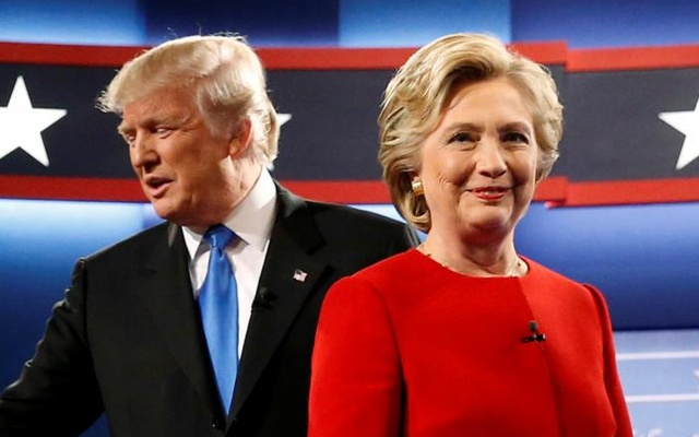 Republican Donald Trump and Democrat Hillary Clinton during one of the presidential debates. Reuter file photo