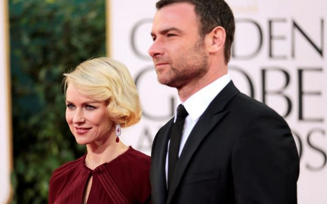 Actress Naomi Watts of the film 'The Impossible' and her husband, actor Liev Schreiber at the 70th annual Golden Globe Awards in Beverly Hills, California January 13, 2013. Reuters