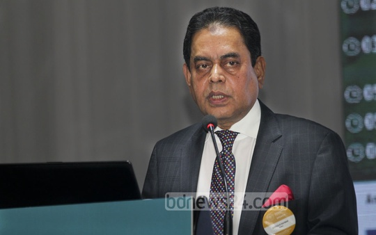BGMEA President Siddiqur Rahman speaks at the inauguration of a conference on readymade garment industry at a Dhaka hotel on Thursday. Photo: asif mahmud ove