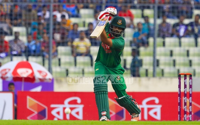 Tamim Iqbal smashed 11 boundaries and two sixes. Photo: muhammad mostafigur rahman