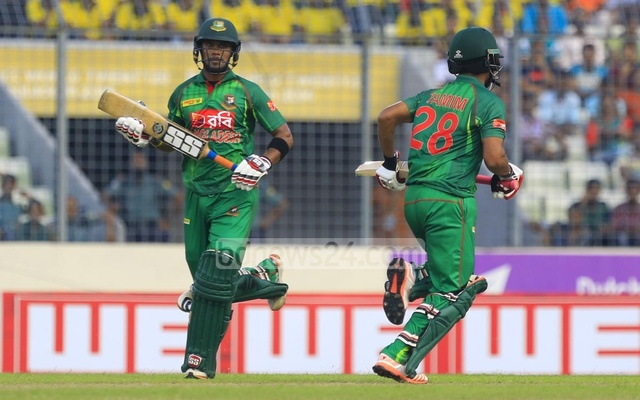 Tamim Iqbal and Sabbir Rahman fashioned a 140-run second wicket stand to set up the big total for Bangladesh. Photo: muhammad mostafigur rahman