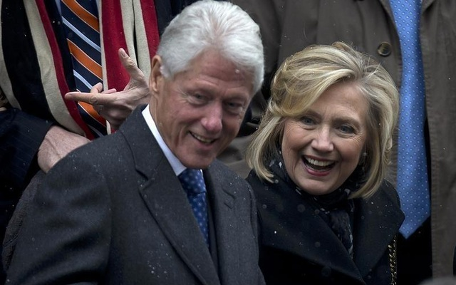 Bill and Hillary Clinton. Reuters