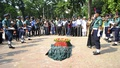 Guard of Honour for late freedom fighter and communist leader Ajoy Roy.