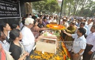 Admirers pay last respect to politician Ajoy Roy