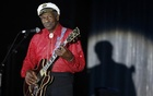 Rock and roll legend Chuck Berry performs during the Bal de la Rose in Monte Carlo, Monaco on March 28, 2009. Reuters