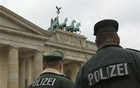 This Oct 5 2010 Reuters File Photo shows German police keeping watch at the Brandenburg Gate, one of Berlin's most popular tourist spots.