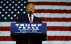 US Republican presidential nominee Donald Trump smiles after making what he said was a major announcement, that he'd abide by the election results if he won, to supporters at a campaign rally in Delaware, Ohio, US Oct 20, 2016. Reuters