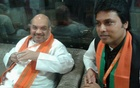 BJP President Amit Shah (L) with Tripura Chief Minister Biplab Deb