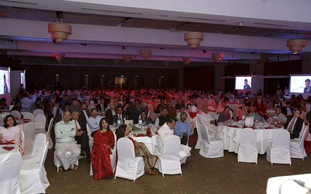 Guests at the Terrific Ten Years celebrations of bdnews24.com at Radisson Blu hotel on Sunday.