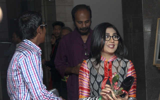 Actress Bonna Mirza at the 10th anniversary celebration of bdnews24.com at Radisson Blu hotel on Sunday.