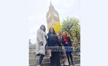 Tulip Siddiq (right), her mother Sheikh Rehana with Runa Laila (second from left) and her daughter Tania Laila.