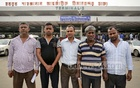 Relatives of five Bangladeshis deported by Sudan wait for their departure from Dhaka's Shahjalal International Airport on Thursday. The authorities let them go later in the night changing a plan to send them back to Sudan like they did around two weeks ago for having no valid documents. Photo: asaduzzaman pramanik