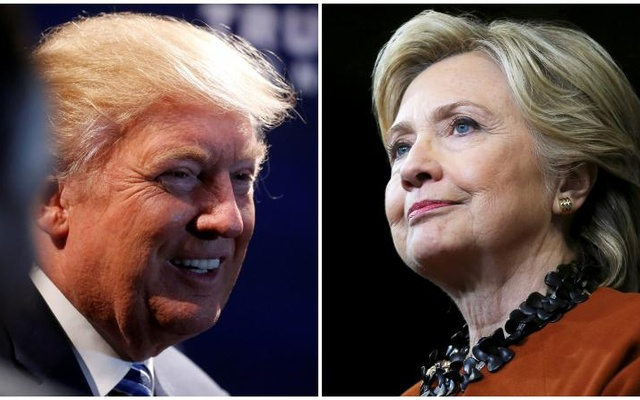 A combination photo shows U.S. Republican presidential nominee Donald Trump (L) at a campaign event in Charlotte, North Carolina, U.S. on October 26, 2016 and U.S. Democratic presidential candidate Hillary Clinton during a campaign rally in Winston-Salem, North Carolina,... Reuters
