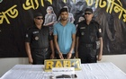 Rafsan Hossain Rubel, the prime suspect in a case of rape of a Garo girl in Badda, was arrested from the Airport Railway Station area Friday evening.