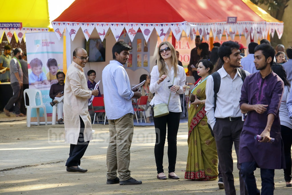 Foreigners could also be seen on the first day of the Dhaka LiT Fest. Photo: asaduzzaman pramanik