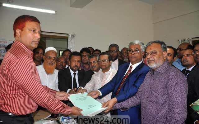 BNP candidate Shkhawat Hossain Khan collected the nomination paper on Wednesday from the returning officer.