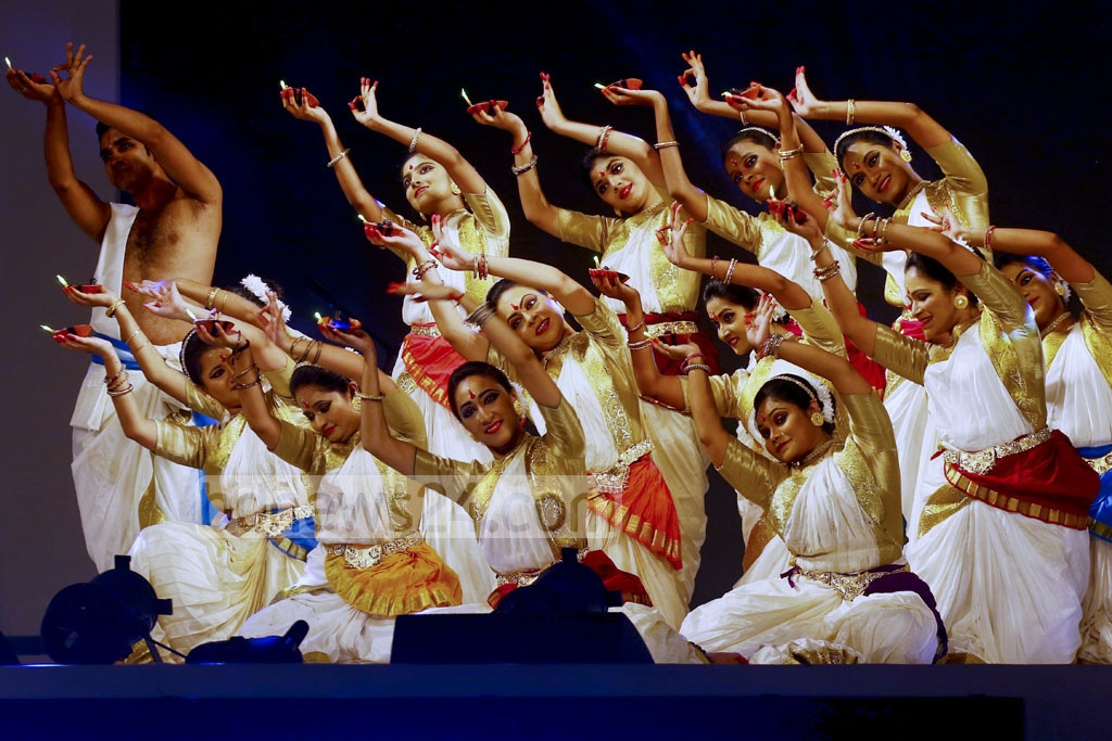 A dance sequence from the inaugural ceremony of the Bengal Classical Music Festival that have begun at the Army Stadium in Dhaka on Thursday.