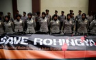 A banner is tied to barbed-wire outside the Myanmar embassy during a protest against what organisers say is the crackdown on ethnic Rohingya Muslims in Myanmar, in Jakarta, Indonesia November 25, 2016. The text on the poster reads, 'Rohingya are our brothers'. Reuters